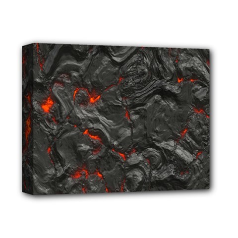 Volcanic Lava Background Effect Deluxe Canvas 14  X 11