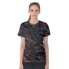 Volcanic Lava Background Effect Women s Cotton Tee