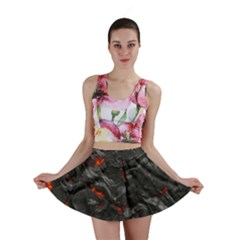 Volcanic Lava Background Effect Mini Skirt