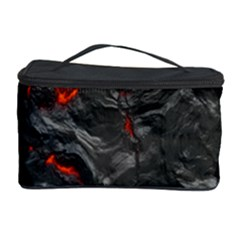 Volcanic Lava Background Effect Cosmetic Storage Case