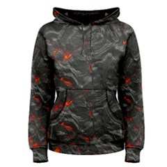 Volcanic Lava Background Effect Women s Pullover Hoodie