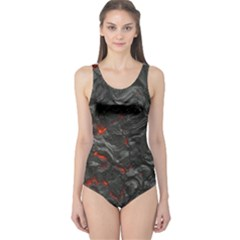 Volcanic Lava Background Effect One Piece Swimsuit