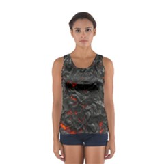 Volcanic Lava Background Effect Women s Sport Tank Top