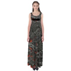 Volcanic Lava Background Effect Empire Waist Maxi Dress