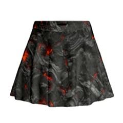 Volcanic Lava Background Effect Mini Flare Skirt