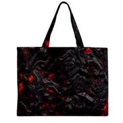 Volcanic Lava Background Effect Medium Tote Bag