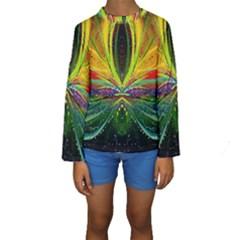Future Abstract Desktop Wallpaper Kids  Long Sleeve Swimwear