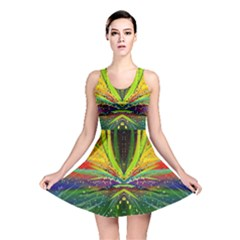 Future Abstract Desktop Wallpaper Reversible Skater Dress