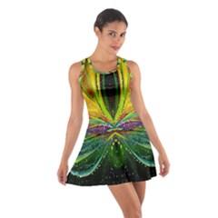 Future Abstract Desktop Wallpaper Cotton Racerback Dress
