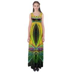 Future Abstract Desktop Wallpaper Empire Waist Maxi Dress