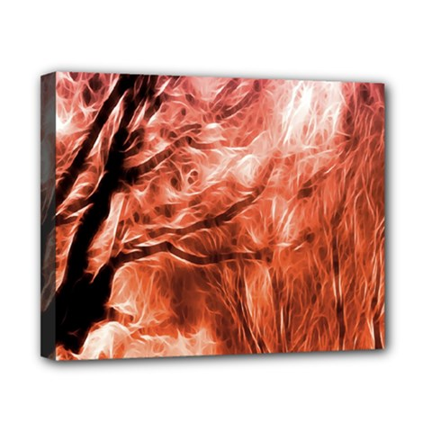 Fire In The Forest Artistic Reproduction Of A Forest Photo Canvas 10  X 8