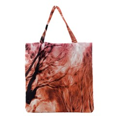 Fire In The Forest Artistic Reproduction Of A Forest Photo Grocery Tote Bag