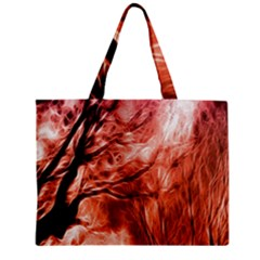 Fire In The Forest Artistic Reproduction Of A Forest Photo Mini Tote Bag