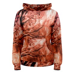 Fire In The Forest Artistic Reproduction Of A Forest Photo Women s Pullover Hoodie