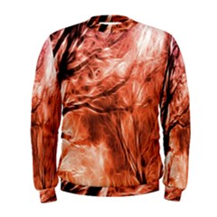Fire In The Forest Artistic Reproduction Of A Forest Photo Men s Sweatshirt