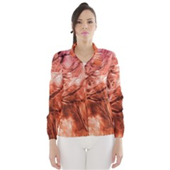 Fire In The Forest Artistic Reproduction Of A Forest Photo Wind Breaker (women)
