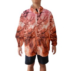 Fire In The Forest Artistic Reproduction Of A Forest Photo Wind Breaker (kids)
