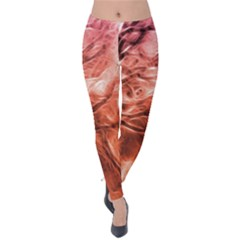 Fire In The Forest Artistic Reproduction Of A Forest Photo Velvet Leggings