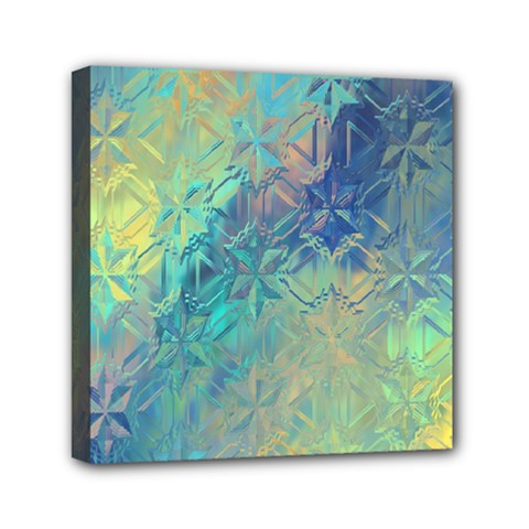 Colorful Patterned Glass Texture Background Mini Canvas 6  X 6