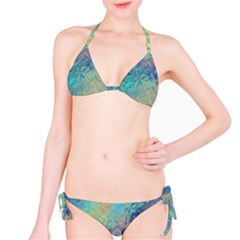 Colorful Patterned Glass Texture Background Bikini Set