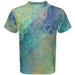Colorful Patterned Glass Texture Background Men s Cotton Tee