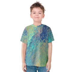 Colorful Patterned Glass Texture Background Kids  Cotton Tee