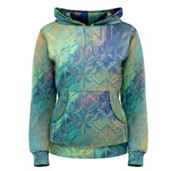Colorful Patterned Glass Texture Background Women s Pullover Hoodie