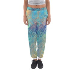 Colorful Patterned Glass Texture Background Women s Jogger Sweatpants