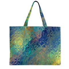 Colorful Patterned Glass Texture Background Zipper Mini Tote Bag