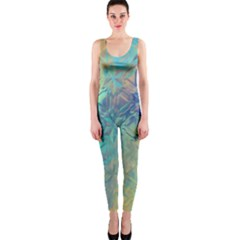 Colorful Patterned Glass Texture Background OnePiece Catsuit