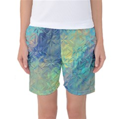 Colorful Patterned Glass Texture Background Women s Basketball Shorts