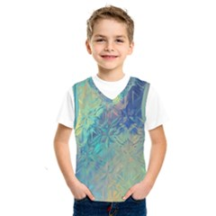 Colorful Patterned Glass Texture Background Kids  Sportswear