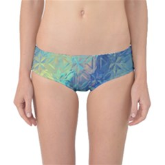 Colorful Patterned Glass Texture Background Classic Bikini Bottoms