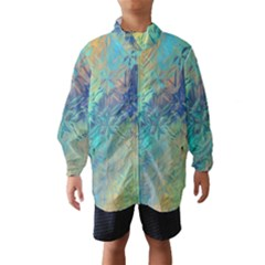Colorful Patterned Glass Texture Background Wind Breaker (kids)