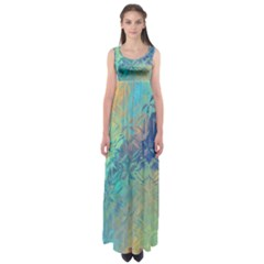 Colorful Patterned Glass Texture Background Empire Waist Maxi Dress