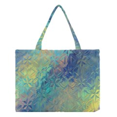 Colorful Patterned Glass Texture Background Medium Tote Bag