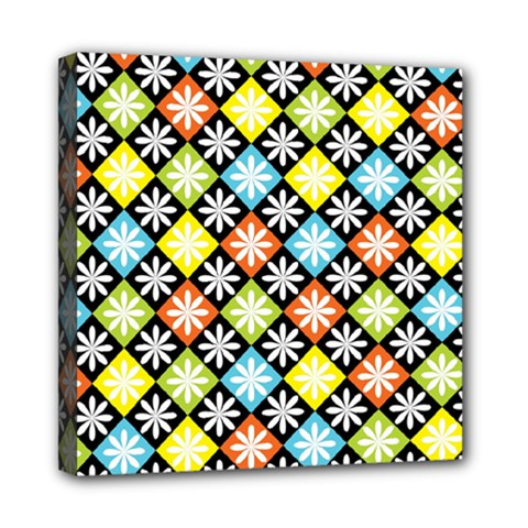 Diamond Argyle Pattern Colorful Diamonds On Argyle Style Mini Canvas 8  X 8
