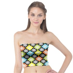 Diamond Argyle Pattern Colorful Diamonds On Argyle Style Tube Top