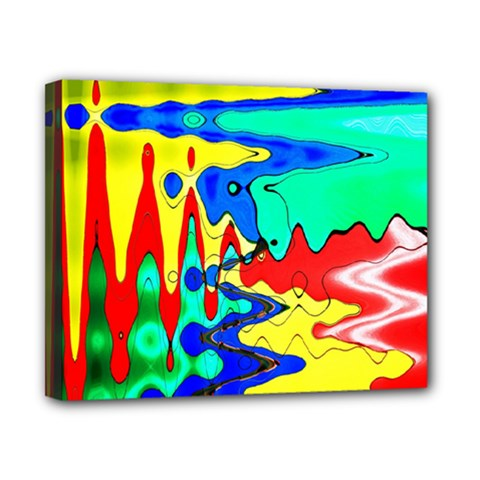 Bright Colours Abstract Canvas 10  X 8