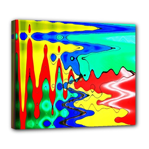 Bright Colours Abstract Deluxe Canvas 24  X 20