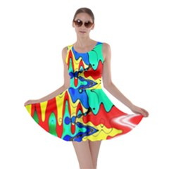 Bright Colours Abstract Skater Dress