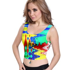 Bright Colours Abstract Crop Top