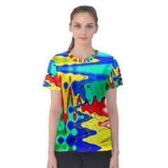 Bright Colours Abstract Women s Sport Mesh Tee