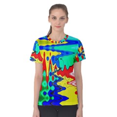 Bright Colours Abstract Women s Cotton Tee