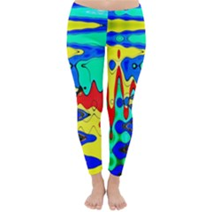 Bright Colours Abstract Classic Winter Leggings