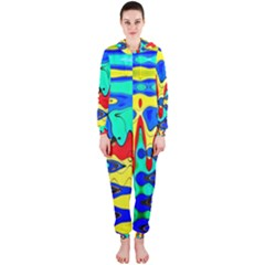 Bright Colours Abstract Hooded Jumpsuit (Ladies)