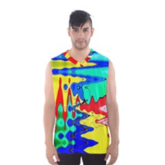 Bright Colours Abstract Men s Basketball Tank Top