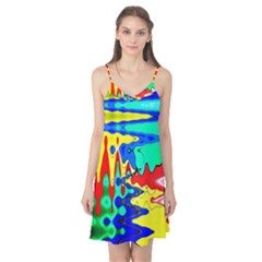Bright Colours Abstract Camis Nightgown