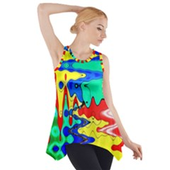 Bright Colours Abstract Side Drop Tank Tunic