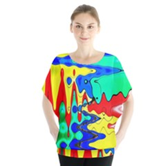Bright Colours Abstract Blouse